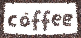 Chicchi di caffè nella figura. Fotografia Stock
