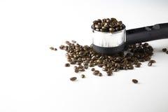 Chicchi di caffè nero Fotografie Stock