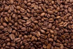 Chicchi di caffè in primo piano a macroistruzione Fotografia Stock