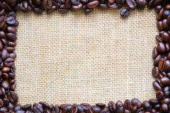 Chicchi di caffè quadrati della struttura Fotografia Stock