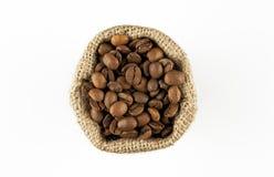 Chicchi di caffè in sacchetto Immagine Stock Libera da Diritti