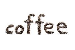 Chicchi di caffè su priorità bassa bianca Fotografia Stock Libera da Diritti