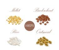 chicchi porridge dei cereali Immagine Stock Libera da Diritti
