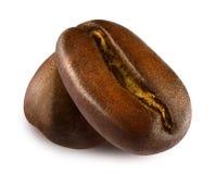 Chicco di caffè arrostito due Fotografie Stock