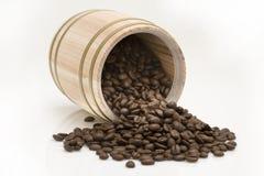 Chicco di caffè dal tamburo della quercia Fotografia Stock Libera da Diritti