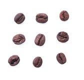 Chicco di caffè isolato su fondo bianco Fotografia Stock Libera da Diritti