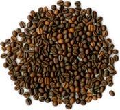 Chicco di caffè su priorità bassa bianca. Immagine Stock