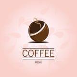 Chicco di caffè sui precedenti rosa Illustrazione Vettoriale