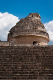 Chicen-Itza El Caracol Mayan Observatory in Mexico Stock Photos