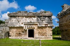 House of Nuns. Chichén Itzá, Mexico - July 28, 2018 : Known as `Casa de las Monjas ` named by the spanish conquerers, House of Nuns in english, is located royalty free stock photo