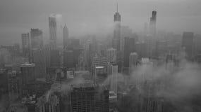 Chichago in den Wolken Lizenzfreies Stockfoto