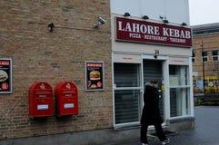 CHICHE-KEBAB ASIATIQUE DE LA NOURRITURE RESTAURNT LAHORE photographie stock libre de droits