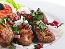 Chiche-kebab avec des légumes Photos libres de droits