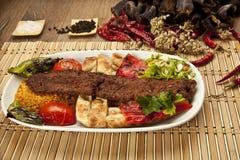 Chiche-kebab d'Adana de turc Image stock