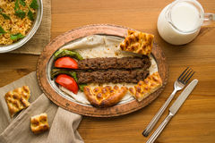 Chiche-kebab d'Adana de turc Photographie stock libre de droits