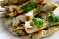 Chiche-kebab de poulet Images libres de droits