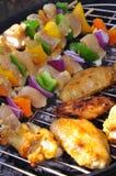 Chiche-kebab de poulet et ailes de poulet Image libre de droits