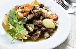 Chiche-kebab de ragoût de boeuf image libre de droits