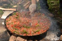 Chiche-kebab de viande et du feu dans l'invention photo libre de droits