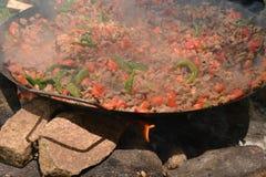 Chiche-kebab de viande et du feu dans l'invention photos libres de droits