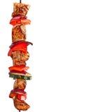 Chiche-kebab grillé de viande Photographie stock libre de droits