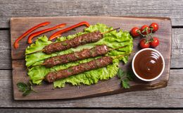 Chiche-kebab ou Lula-chiche-kebab photos stock