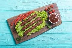Chiche-kebab ou Lula-chiche-kebab images libres de droits