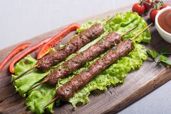 Chiche-kebab ou Lula-chiche-kebab images stock