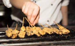 Chiche-kebab sur le gril Photographie stock libre de droits