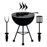 Chiche-kebab sur le gril de barbecue Images libres de droits