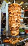 Chiche-kebab turc de doner de nourriture images stock