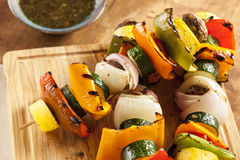 Chiche-kebab végétal grillé organique image libre de droits