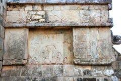 chichen象形文字itza玛雅墨西哥废墟 库存照片