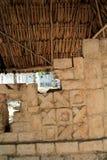 chichen руины Мексики itza hieroglyphics майяские Стоковое Изображение RF