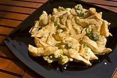 Chichen com patatoes Fotografia de Stock Royalty Free
