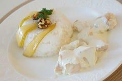 Chichen con riso ed alimento pera-italiano fotografia stock libera da diritti