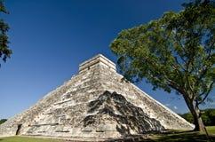 chichen den itzamexico pyramiden Arkivfoton
