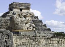 chichen itza玛雅墨西哥现代一个废墟奇迹世界 免版税库存图片