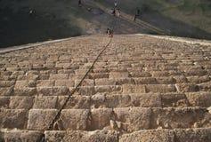 chichen itza金字塔顶视图 库存图片