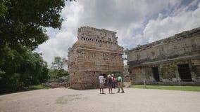Chichen Itza, η μονή καλογραιών, Zona κεντρικό απόθεμα βίντεο