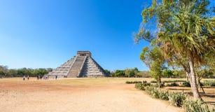 Chichen Itza - πυραμίδα EL Castillo - αρχαίες καταστροφές ναών της Maya Yucatan, Μεξικό Στοκ φωτογραφία με δικαίωμα ελεύθερης χρήσης