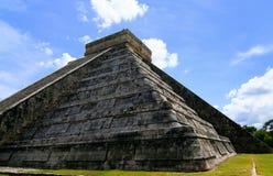 Chichen Itza. Mayan Pyramid in Mexico Stock Photo