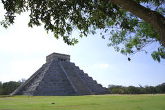 Chichen Itza. Pyramid in Chichen Itza - Yucatan - Mexico Stock Image