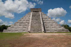 Chichen Itza. Temple of Kukulkan, often referred to as El Castillo (the castle), Chichen Itza (at the mouth of the well of the Itza), large pre-Columbian Stock Photos