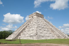 Chichen Itza. Temple of Kukulkan, often referred to as El Castillo (the castle), Chichen Itza (at the mouth of the well of the Itza), large pre-Columbian Royalty Free Stock Image