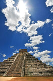Chichen Itza. The main pyramid El Castillo is also called Temple of Kukulcan. The Maya name Chich'en Itza means At the mouth of the well of the Itza. Located Stock Photo