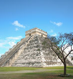 Chichen Itza. The step pyramid, Temple of Kukulkan, El Castillo in Chichen Itza, Mexico stock image