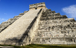 Chichen Itza. Feathered serpent pyramid, Mexico Royalty Free Stock Image