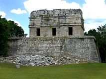 Chichen-itza. This is a shot of the tower at chicken-itza Royalty Free Stock Image