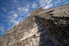Chichen Itza Abschluss oben Stockbild